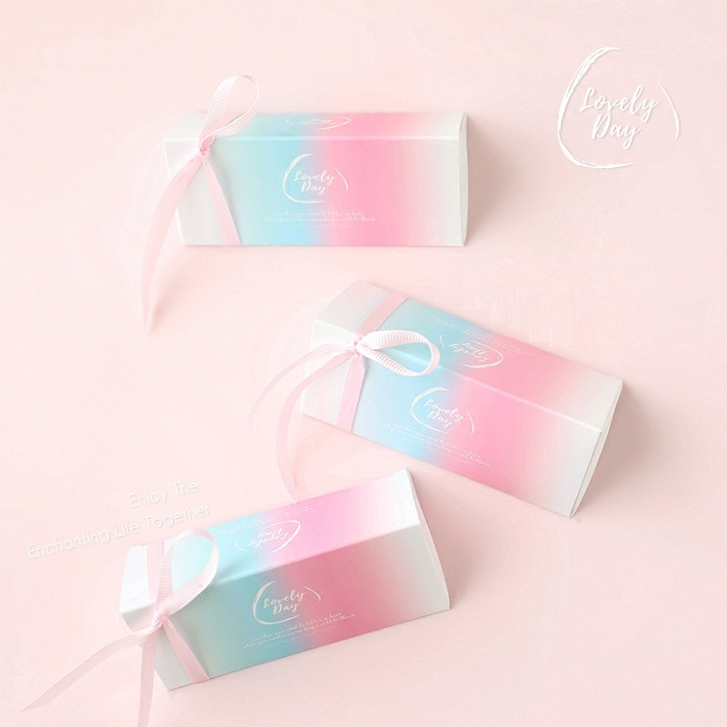 New products pink candy packaging box wedding