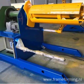 with car 10 tons hydraulic decoiling machine