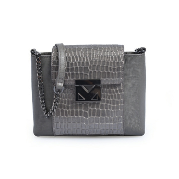 Women's Leather Courier Bag Mini Bag Crocodile
