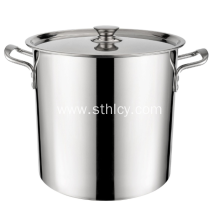Mataas na kalidad na Mababa Bottom Stainless Steel Bucket