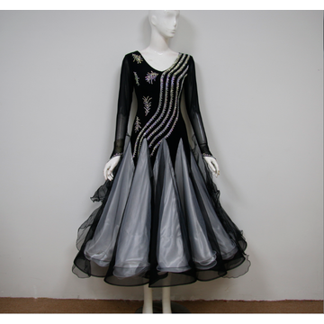 Women ballroom dance costumes for competition