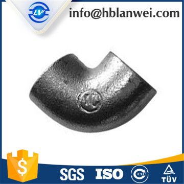 Plain Equal Galvanized Malleable Iron Pipe Fittings Tee