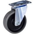 4-inch gray pu wheel industrial caster