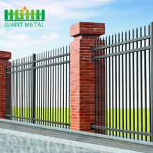 wide welded powder coated picket steel fencing