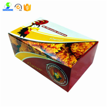 Colorful chicken box hot food box