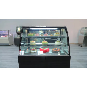 two layer cake glass cooling cabinet