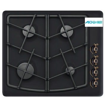 Panel cooking black with a retro pattern Hob