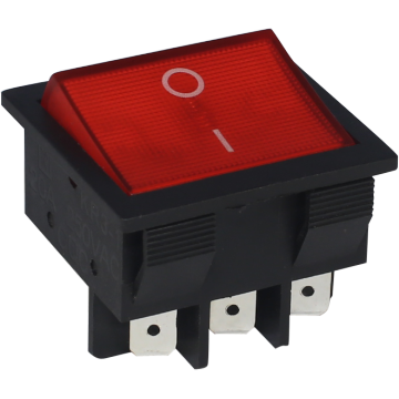 Illuminated Rocker Switch 6 Terminals