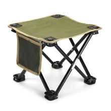 Portable green Camp Stool with 4 legs