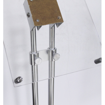 Metal Floor Acrylic Brochure Holder Magazine Display Stand