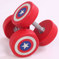 High-end Round Dumbbell US Captain PU Dumbbell