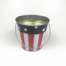 New Citronella Metal Bucket Candle Insects Repellant