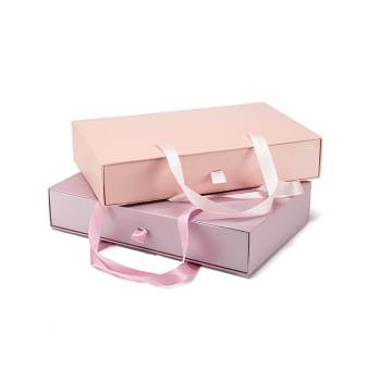 Beautiful Design High End Pink Drawer Packing Box