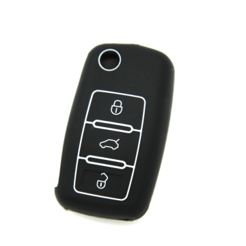 VW 3 buttons silicone car key protect case