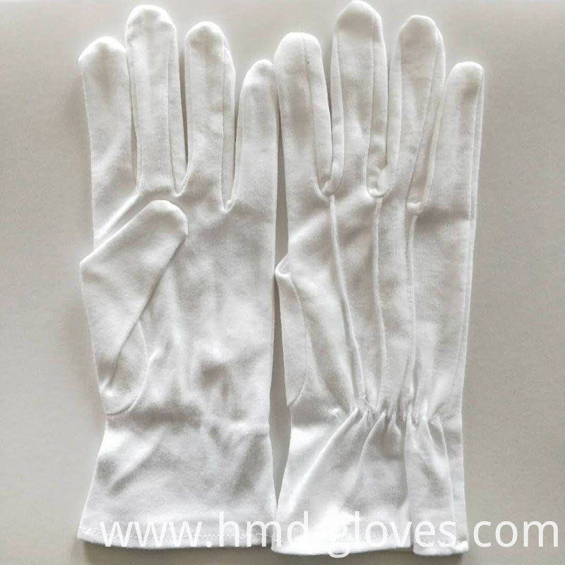 10 Whit Cotton Gloves