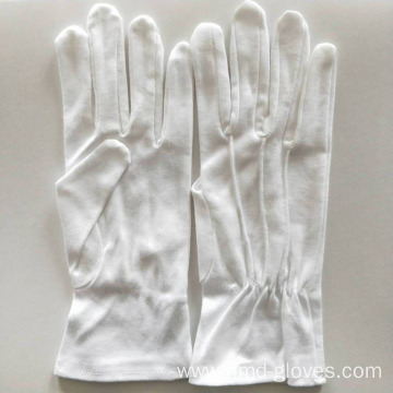 White Organic Marching Band Cotton Gloves