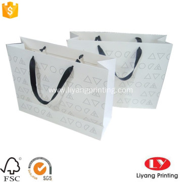 Fancy custom printed paper gift bag packaging