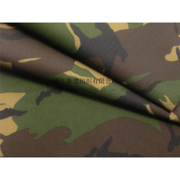 CVC Woodland Military Camouflage Fabric with Waterproof