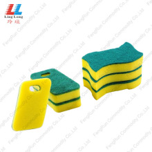 Goods high definition for Green Sponge Scouring Pad best kitchen cleaner Sponge with Abrasive Scouring Pad export to Poland Manufacturer