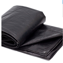 ODM for Plastic Sheet Black Poly Tarp Waterproof black PE square tarp supply to United States Exporter
