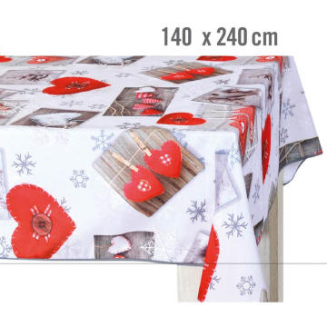 Christmas design pvc table cloth