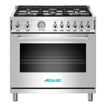 36 inch All Gas Range 6 Brass Burners