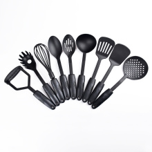 kitchen tools 9 piece black nylon cooking utensils