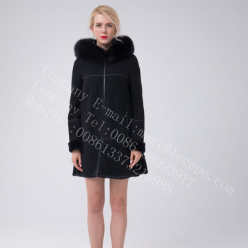 Lady Australia Merino Shearling Hooded Jcket