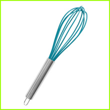 Red Silicone with Stainless Steel Handle Whisk