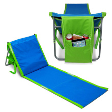Portable Beach Lounge Chair Mat with Cooler Storage