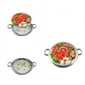 Non-magnetic Stainless Steel Double Bottom Steamer Pot