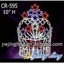 Fast Delivery for Beauty Pageant Crowns Sapphire Ruby Star Pageant Crowns Royal Tall Tiara supply to Afghanistan Factory