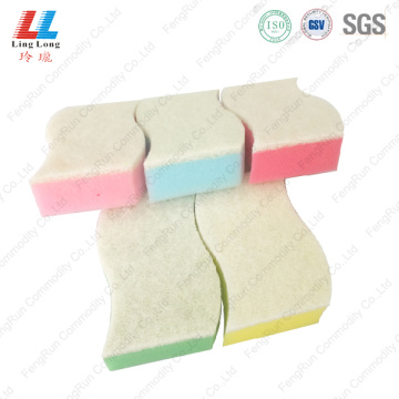 Abosorbent massaging sponge scouring cleaning