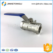 JKTL1B008 cf8m 1000 wog 1pc float teflon ss316 ball valve design