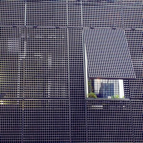 Ventilated Steel Bar Grid Building Facades