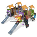 Kids Outdoor Playhouse Equipment With Slide