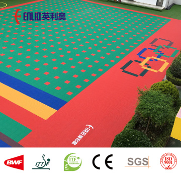 Modular interlocking floor kids playground flooring