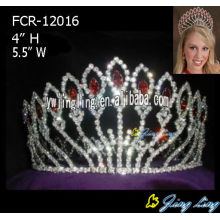 Pink Rhinestone Full Round Queen Crown
