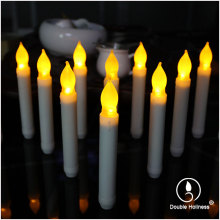 flickering flameless led taper candles