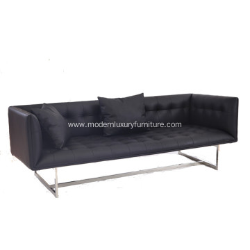 Modern Edward 3 Seat Leather Sofa