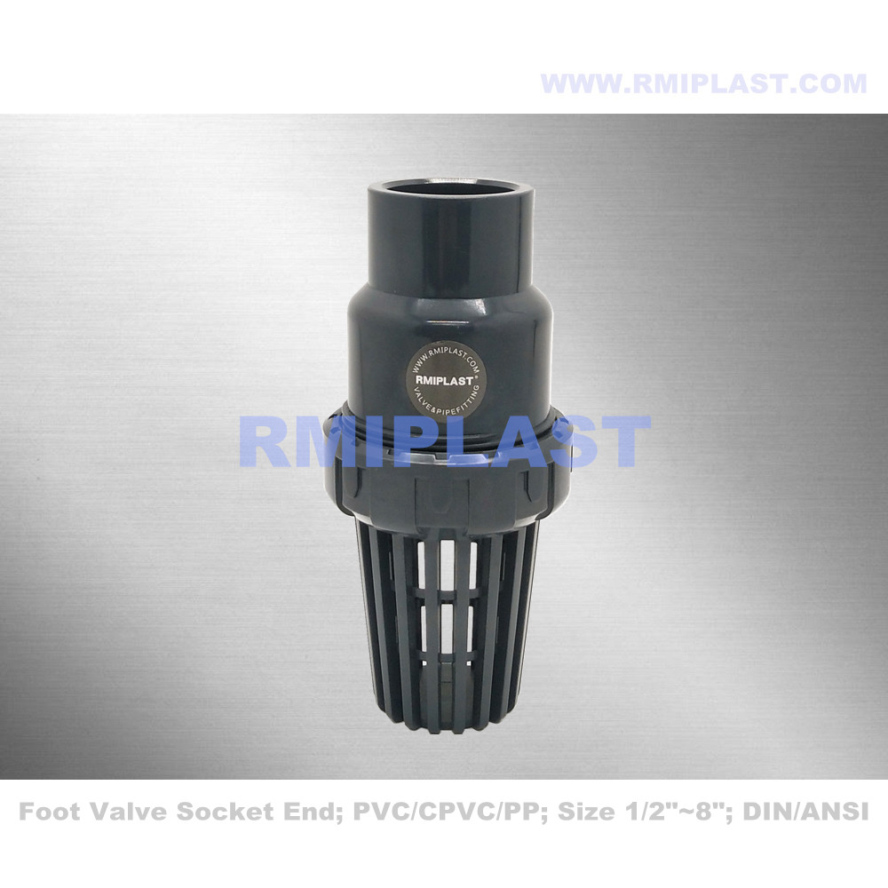 Plastic PVC Bottom Valve Socket End