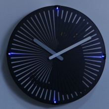 Online Manufacturer for China Lighting Wall Clock,Light Up Wall Clock,Lighted Wall Clock Supplier Cat Motion Clock with Night Light for Decoration export to Jordan Supplier