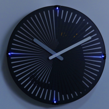 Europe style for Lighted Wall Clock Cat Motion Clock with Night Light for Decoration supply to Puerto Rico Supplier