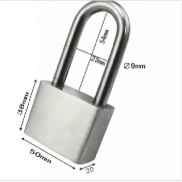 304 50mm long-shackle stainless steel padlock