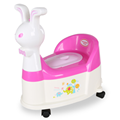 Rabbit Shape Plastic Infant Potty Chair With Wheel&Music