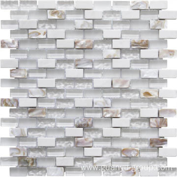 luxury crystal and shell mix mosaic