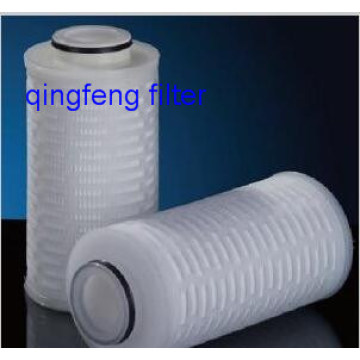 10''Glass Fiber Pleated Filter Cartridge Water Filtration