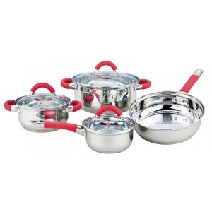 Leading for Ceramic Cookware Sets 7 Pieces Cookware Set with Heat Resistant Handles export to Indonesia Factories