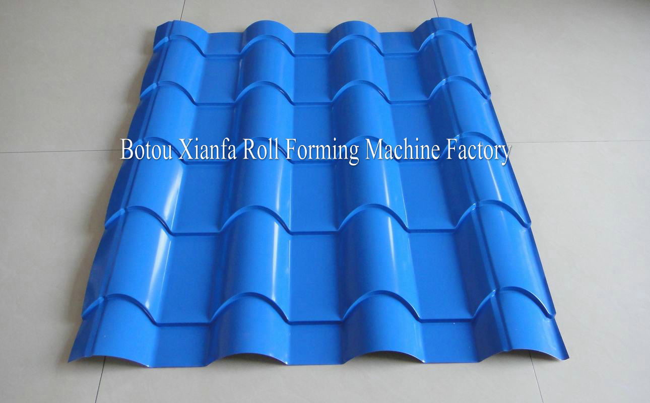 bamboo glazed roof tile forming machine