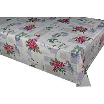 Pvc Printed fitted table covers Black Should Fit